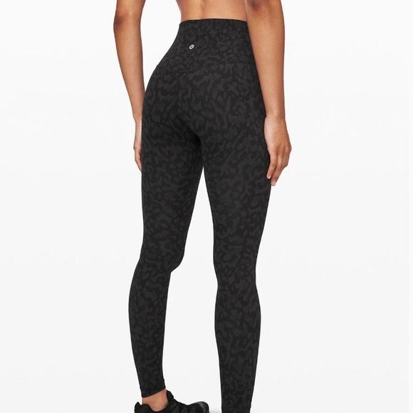 Lululemon Athletica Pants Jumpsuits Lululemon Align Leggings Formation Camo Deep Coal Poshmark